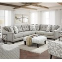 Fusion Furniture 3280 2-Piece Sectional - Item Number: 52B-31LEvenings Stone+33R