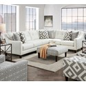 Fusion Furniture 3280 2-Piece Sectional - Item Number: 52B-31LSugarshack Glacier+33R