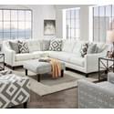 Fusion Furniture 3280 2-Piece Sectional - Item Number: 52B-33LSugarshack Glacier+31R
