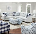 Fusion Furniture 3280 2-Piece Sectional - Item Number: 52B-33LTampa Ice+31R