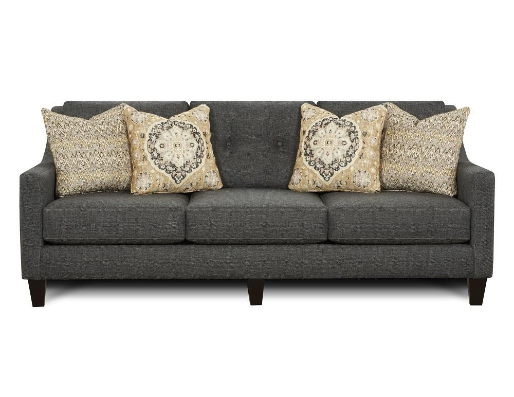 Fusion Furniture 3280B Ocala Slate Sofa - Item Number: FUSI-3280BOCALA-SLATE