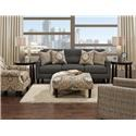 Fusion Furniture 3280B Ocala Slate Sofa