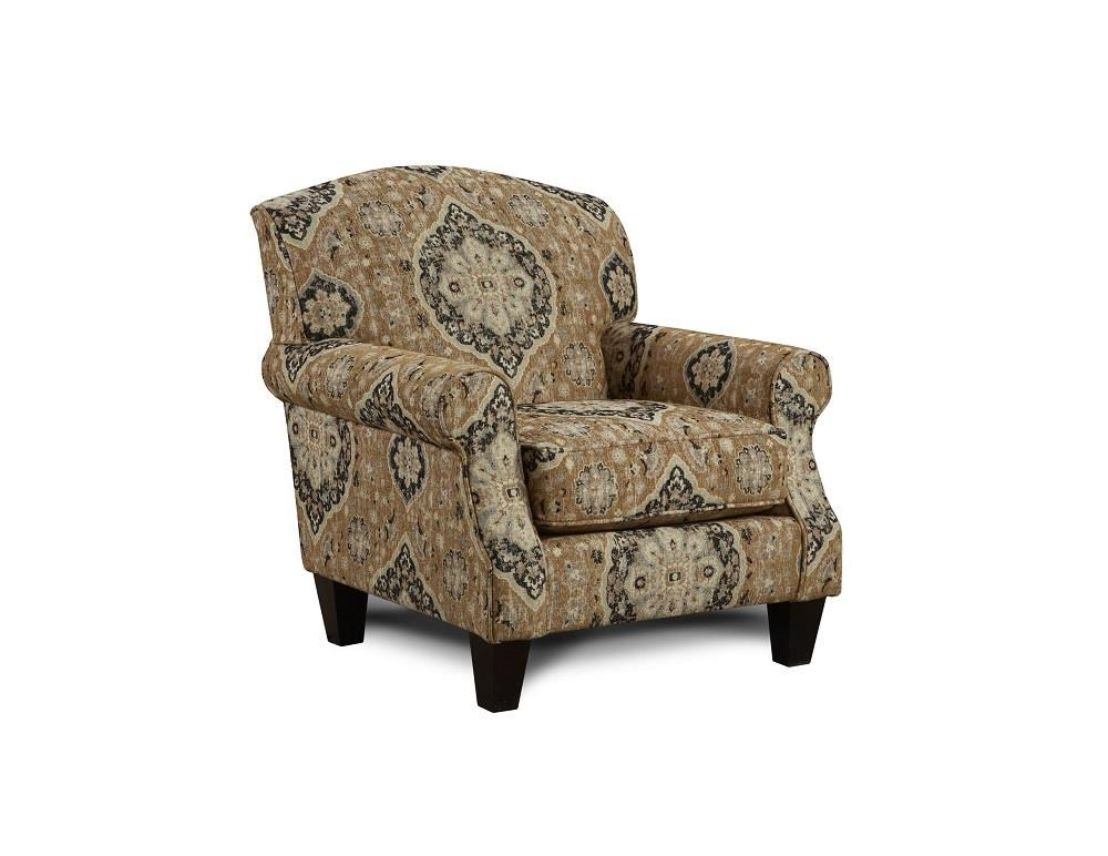 Fusion Furniture 3280B Renaissance Antique Accent Chair - Item Number: FUSI-532 RENAISSANCE-ANTIQUE