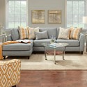 Fusion Furniture 34-31 2 Pc Sofa w/ LAF Chaise - Item Number: 34-26L+31RPaperchase Flannel