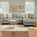 FN 34-31 2 Pc Sofa w/ RAF Chaise - Item Number: 34-31L+26RPaperchase Flannel
