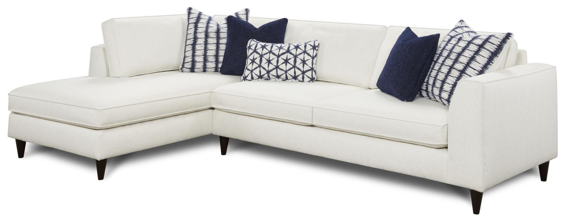 Fusion Furniture Collette 2-Piece Sectional with Left Chaise - Item Number: 3418Bopper Natural+3416