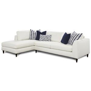 Fusion Furniture Collette 2-Piece Sectional with Left Chaise