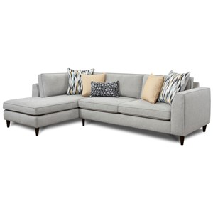 Fusion Furniture 3400 2-Piece Sectional with Left Chaise