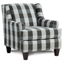 Fusion Furniture 340 Upholstered Chair - Item Number: 340Block Party Ebony