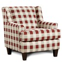 Fusion Furniture 340 Upholstered Chair - Item Number: 340Buffalo Bill Crimson