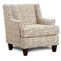 Fusion Furniture 340 Upholstered Chair - Item Number: 340Kuba Chinchilla