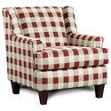 Fusion Furniture 340 Upholstered Chair - Item Number: 340Rothbury Crimson