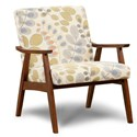 Haley Jordan 350 Wood Frame Chair - Item Number: 350Julita Metallic