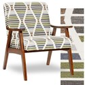 Fusion Furniture 350 Wood Frame Chair - Item Number: 350Papoose Marine