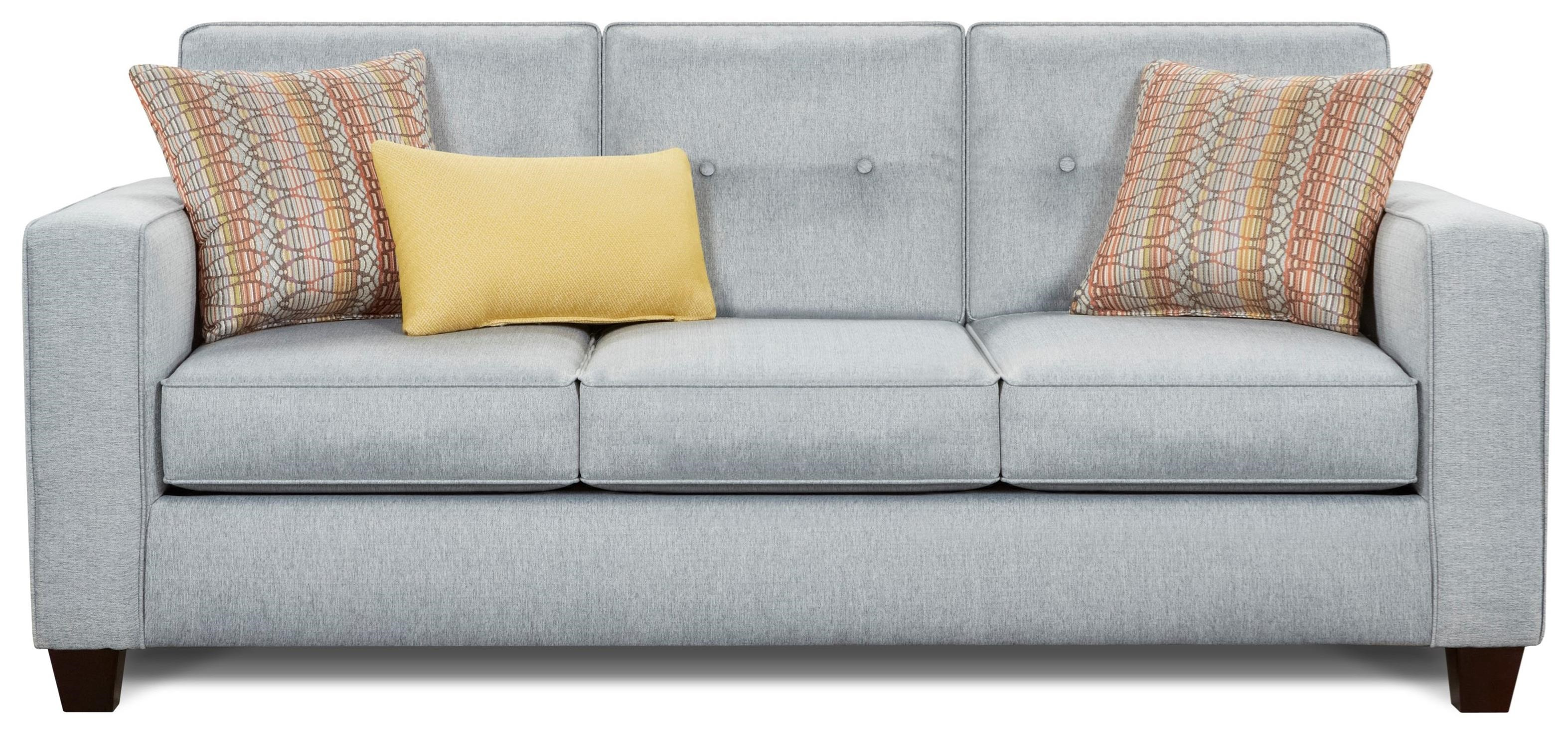 Fusion Furniture 3560B Sofa - Item Number: 3560B-KPFandango Silver