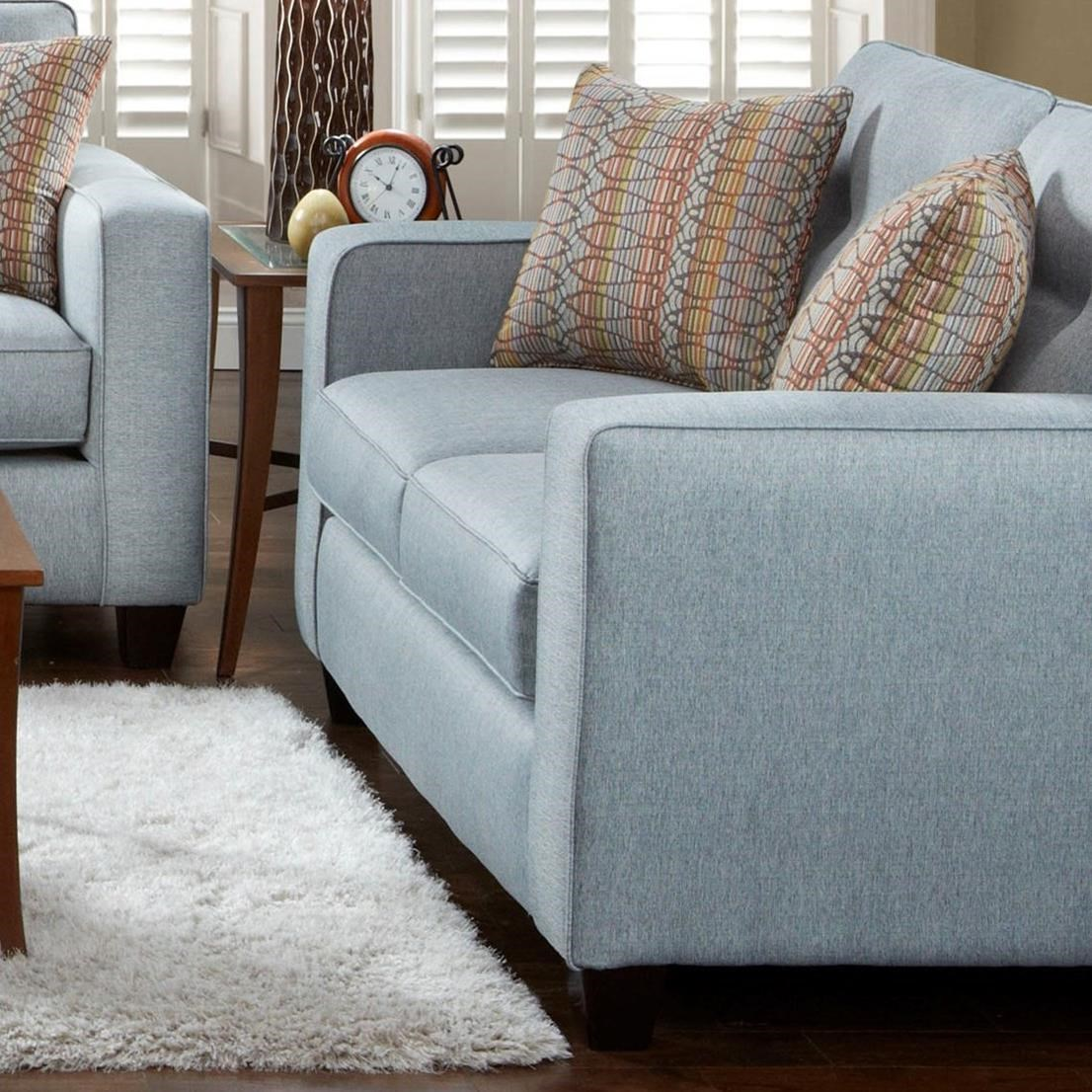 Fusion Furniture 3560B Loveseat - Item Number: 3561-BFandango Silver