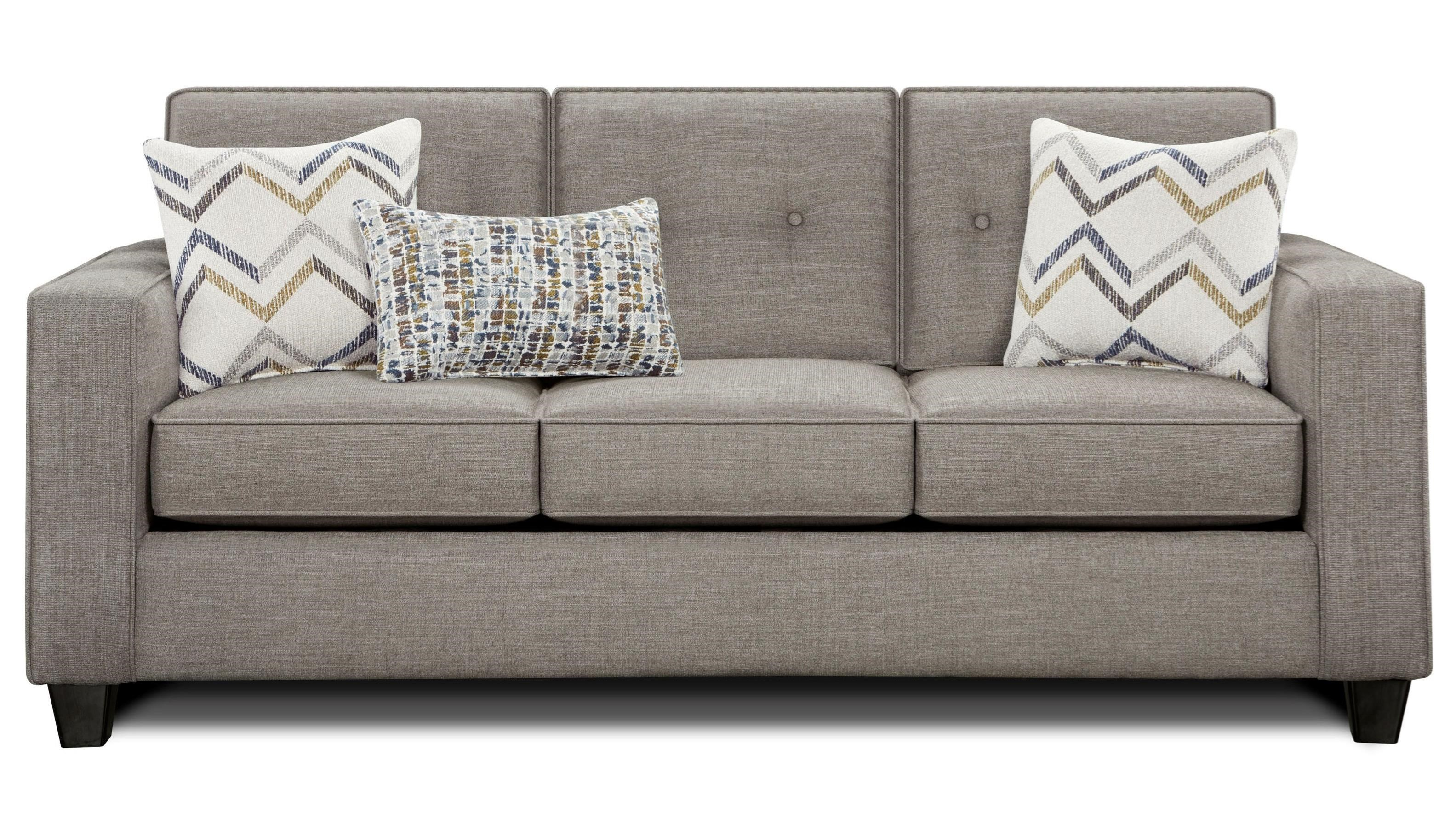 Cool Fusion Furniture 3570B Sleeper Sofa With Track Arms And Pabps2019 Chair Design Images Pabps2019Com