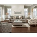 Fusion Furniture 3600 Stationary Living Room Group - Item Number: 3600 Living Room Group 1