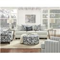 Fusion Furniture 39-00 Loveseat - Item Number: 39-01Awesome Oatmeal