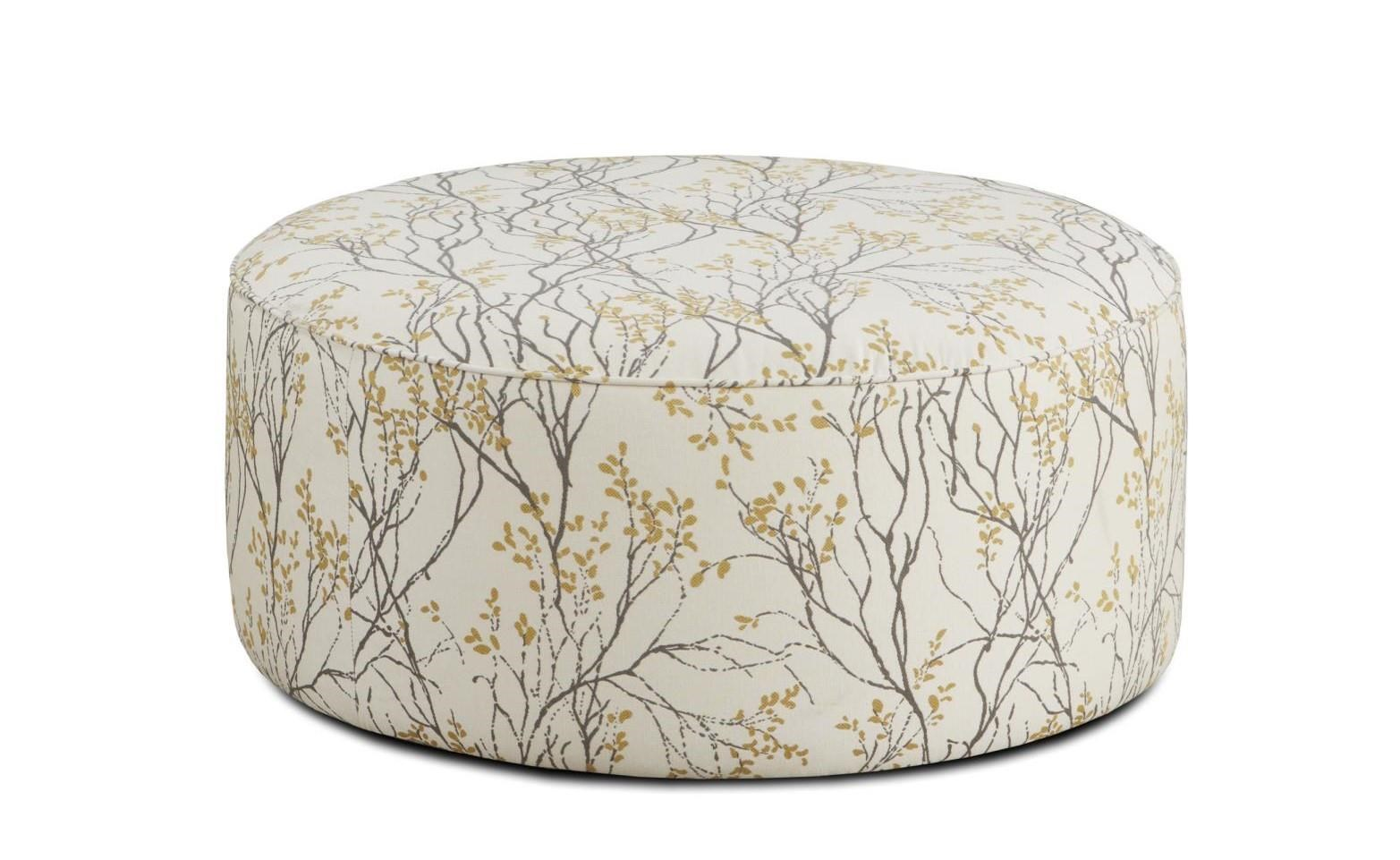 Fusion Furniture 4200 Myla Marigold Cocktail Ottoman - Item Number: 140 MYLA-MARIGOLD