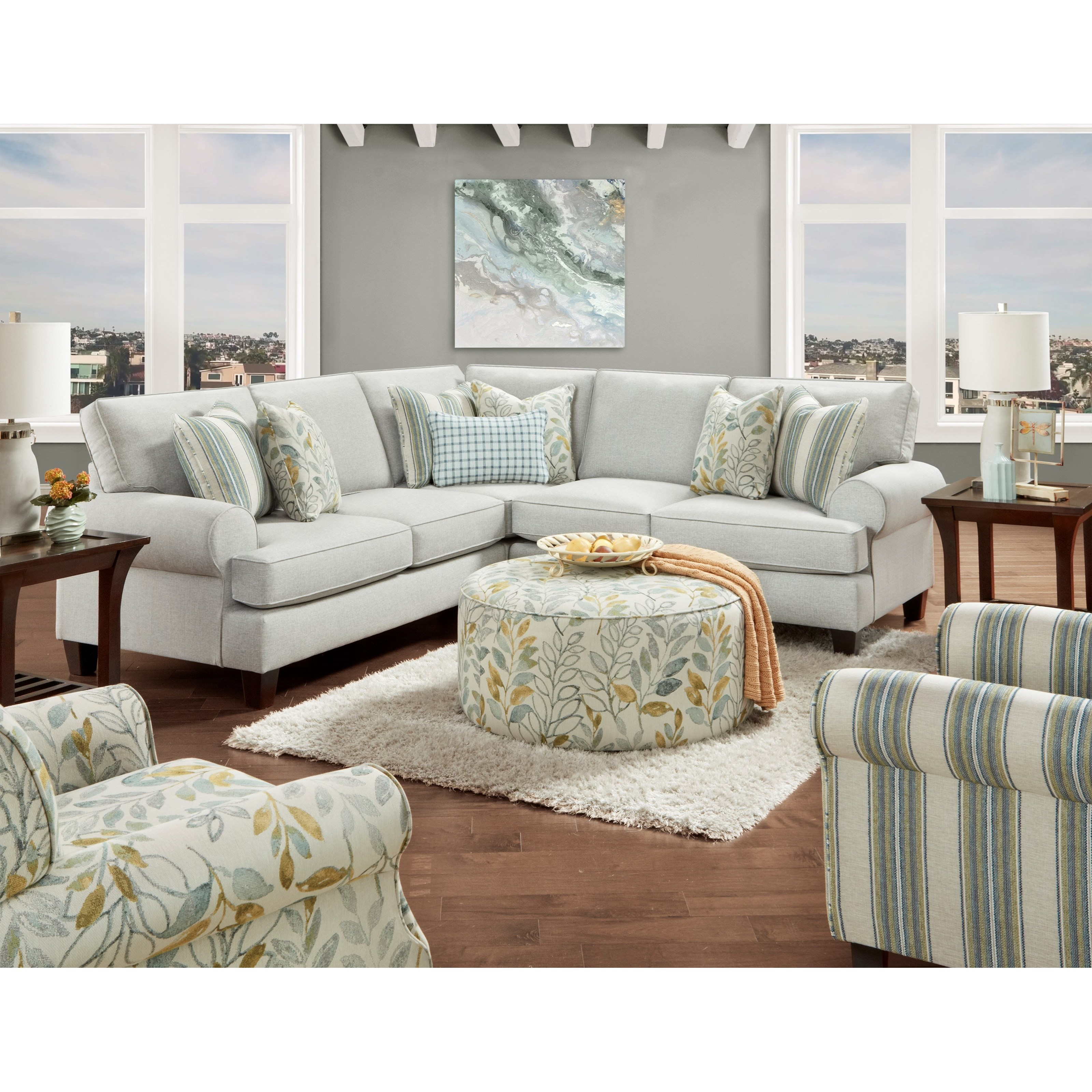 L Shaped Sectional With Reversible Cushions