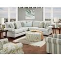 Fusion Furniture 4200 Sectional - Item Number: 42-21L+15-KP+21RThrillist Fog