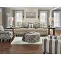 Fusion Furniture 4200 Stationary Living Room Group - Item Number: 4200 Living Room Group 2