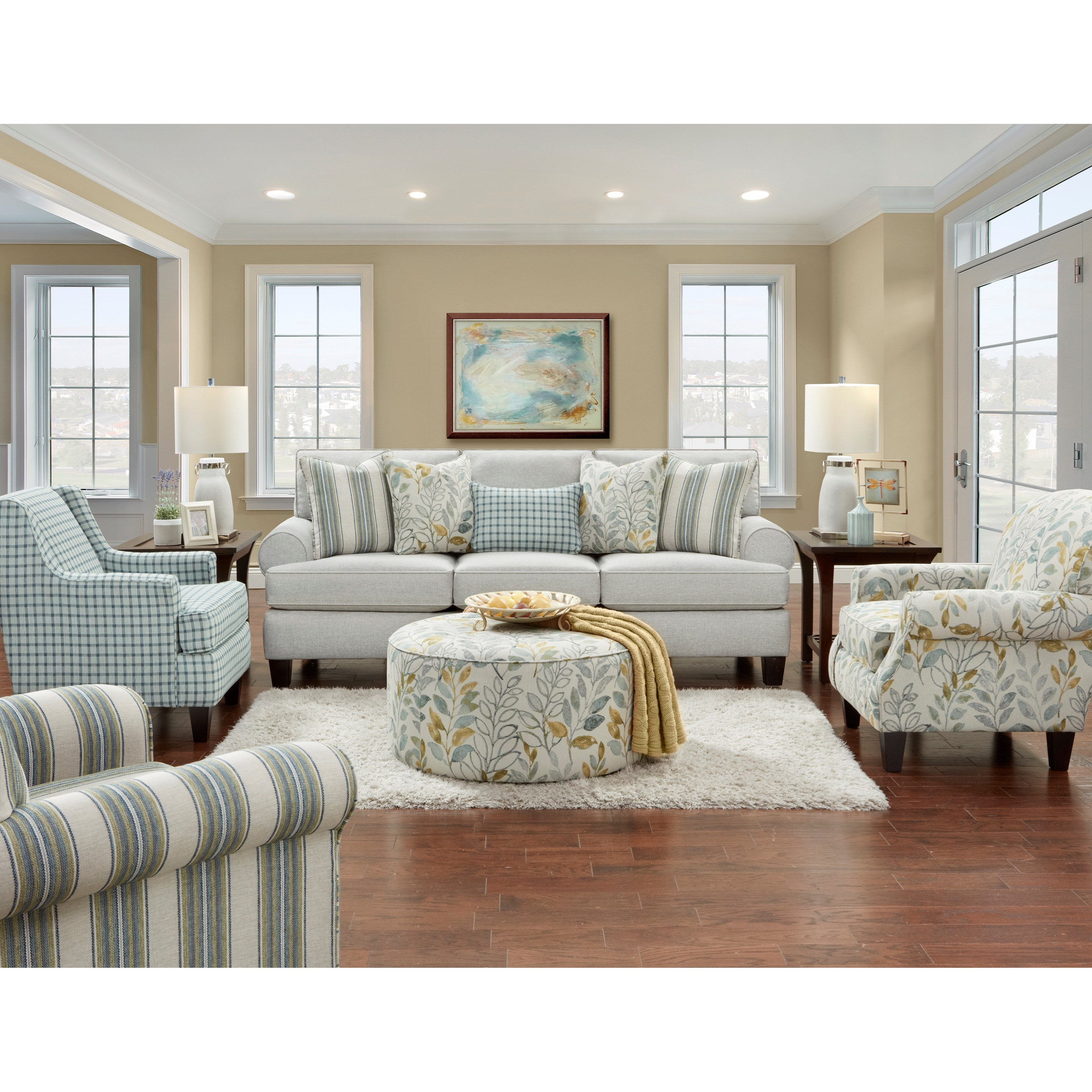 4200 Stationary Living Room Group by Fusion Furniture at Wilcox Furniture