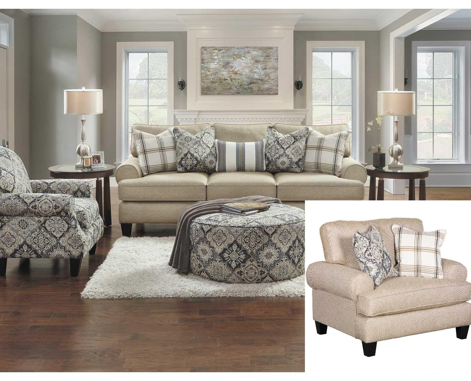 3 Pc Living Room Group