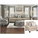 Fusion Furniture 4200 3 Pc Living Room Group - Item Number: 4200-KP Group