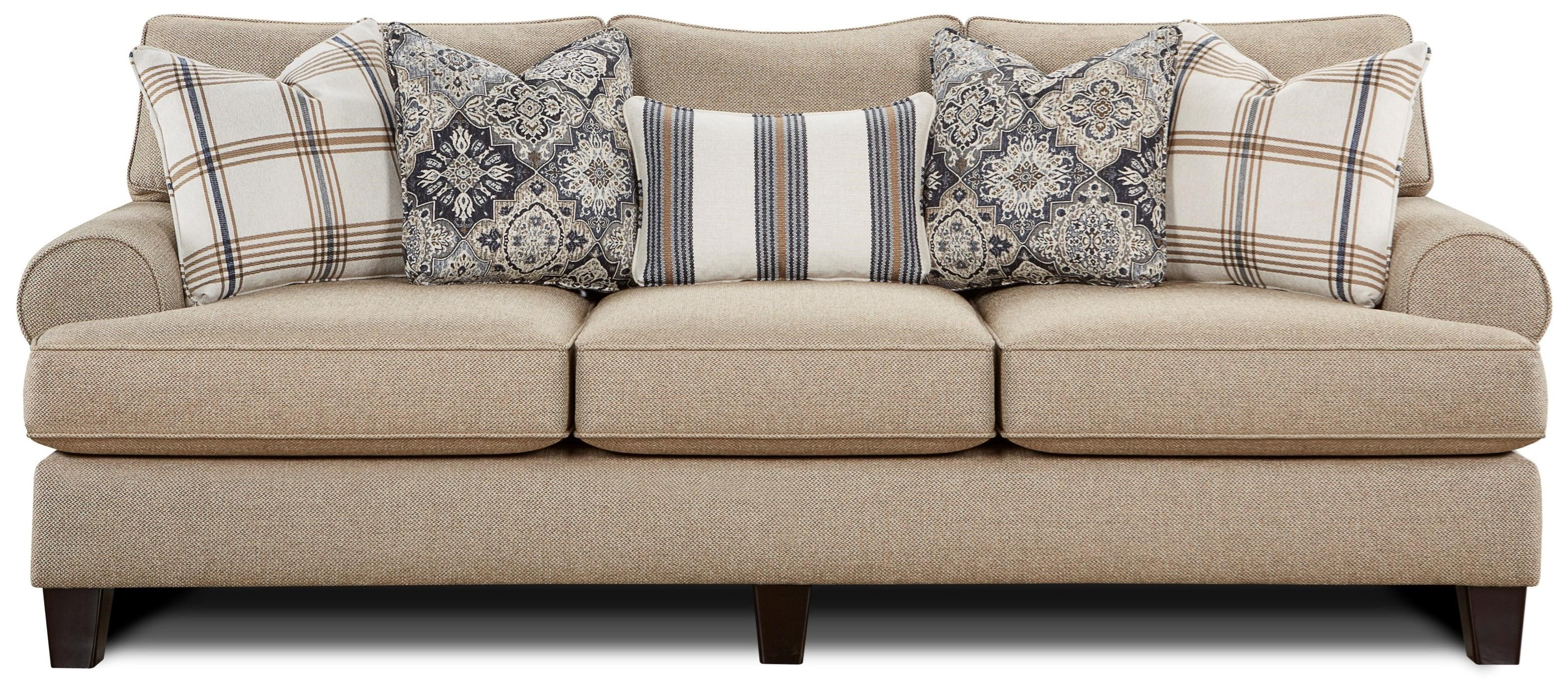 Fusion Furniture 4200 Sofa - Item Number: 4200-KPWhitaker Wheat