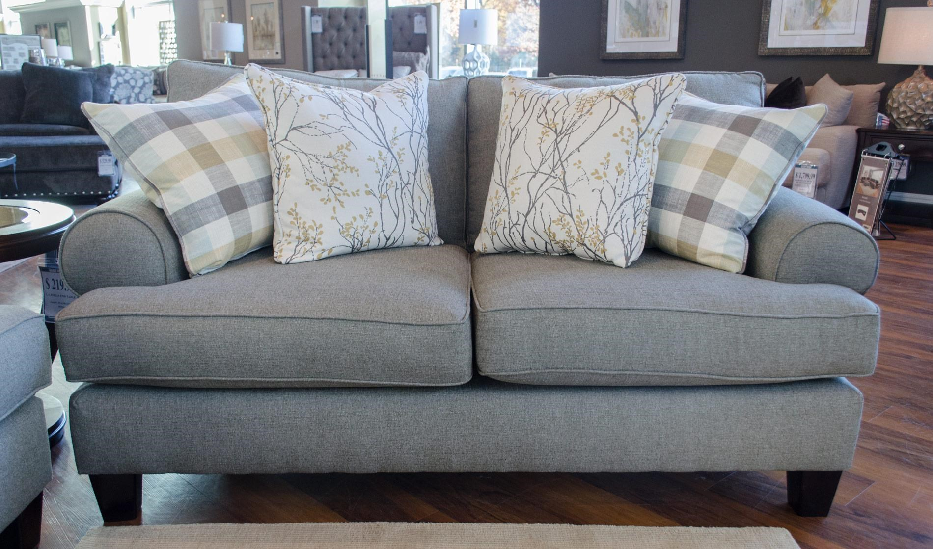 Fusion Furniture 4200 Boho Birch Loveseat - Item Number: 4201 BOHO-WEAVE-BIRCH