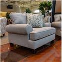 Fusion Furniture Boho Birch Thrillist Fog Chair & a Half - Item Number: 4202THRILLIST-FOG