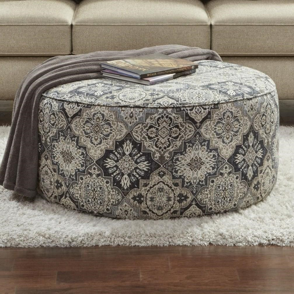 Fusion Furniture 4200 Cocktail Ottoman - Item Number: 4203OTTO