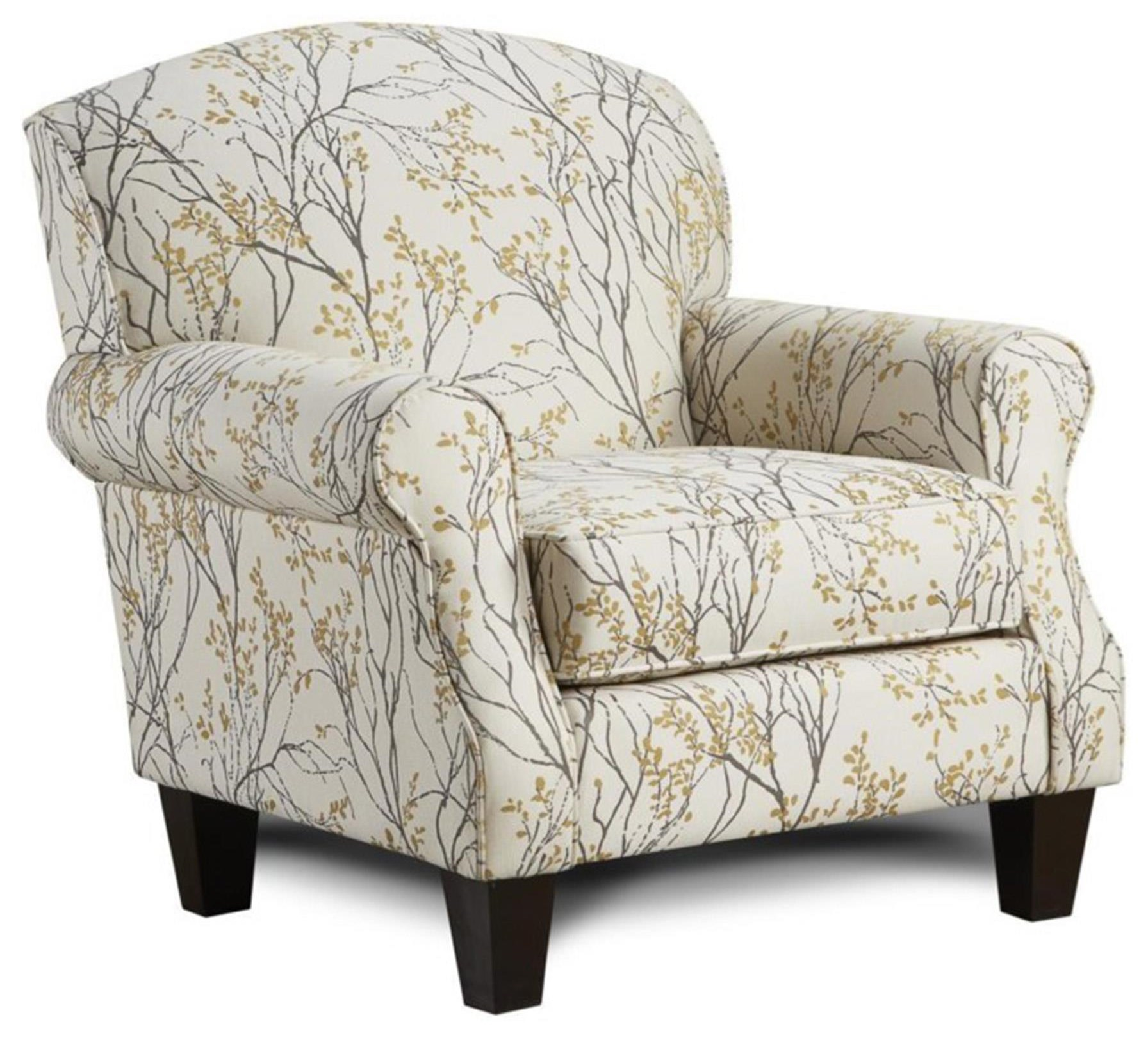 Fusion Furniture 4200 Myla Marigold Accent Chair - Item Number: 532 MYLA-MARIGOLD