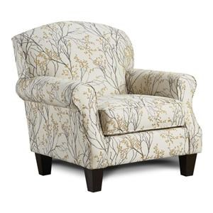 Fusion Furniture 4200 Myla Marigold Accent Chair
