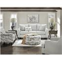 Fusion Furniture 44-00-KP Max Gray Loveseat - Item Number: 44-01Max Gray