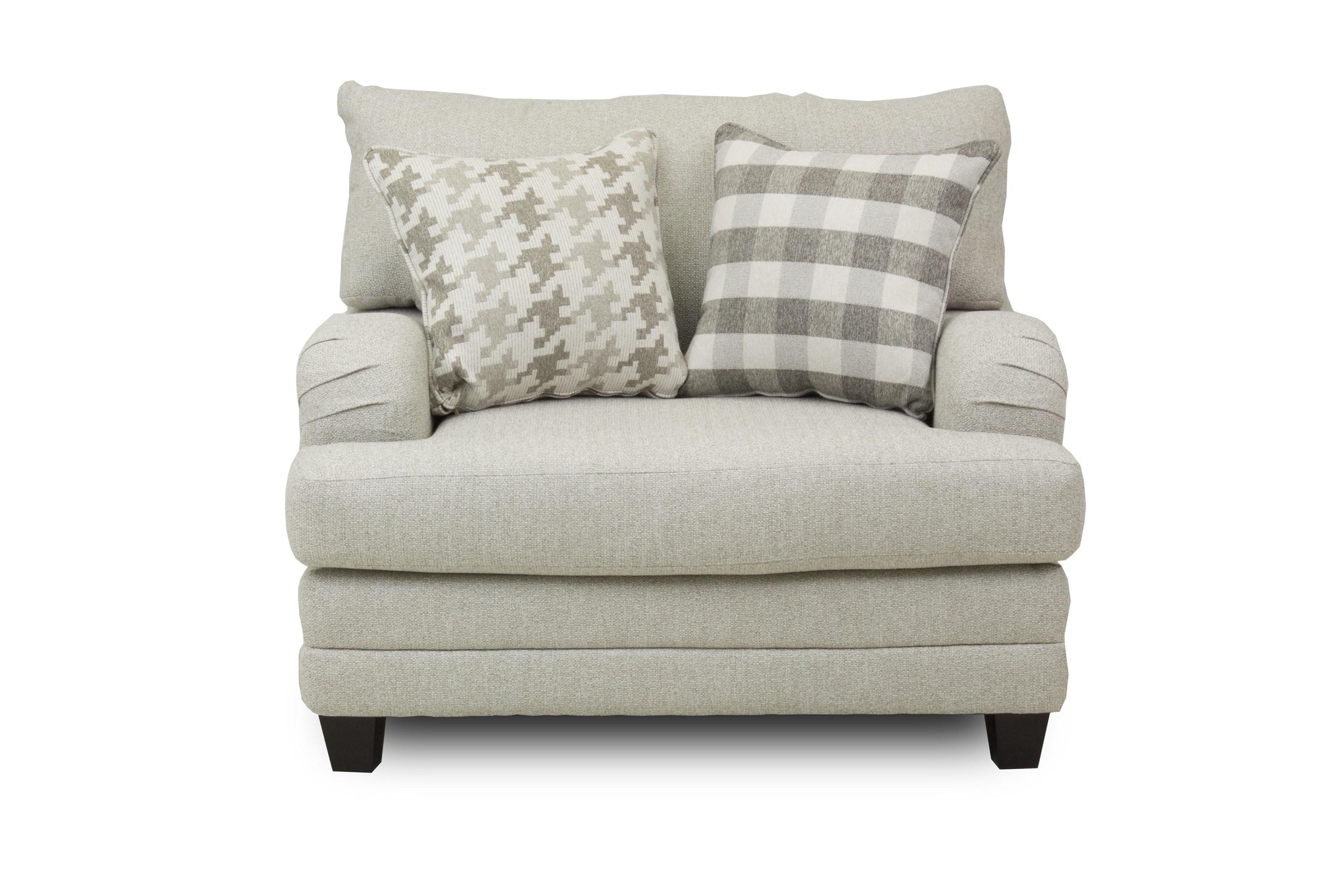 Fusion Furniture Brock Berber Chair and a Half - Item Number: 1744-C