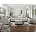 Fusion Furniture 4480-KP Transitional Loveseat with Setback Arms