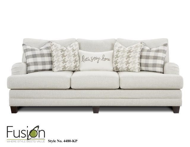 Fusion Furniture 4480 Three Cushion Sofa - Item Number: 4480kp
