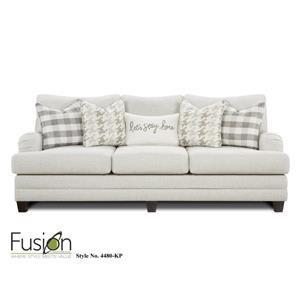 Fusion Furniture 4480 Three Cushion Sofa