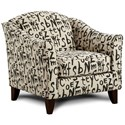 Fusion Furniture 452 Chair - Item Number: 452American Grafitti Raven