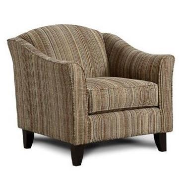 Fusion Furniture 452 Chair - Item Number: 452ANDES BUTTERNUT