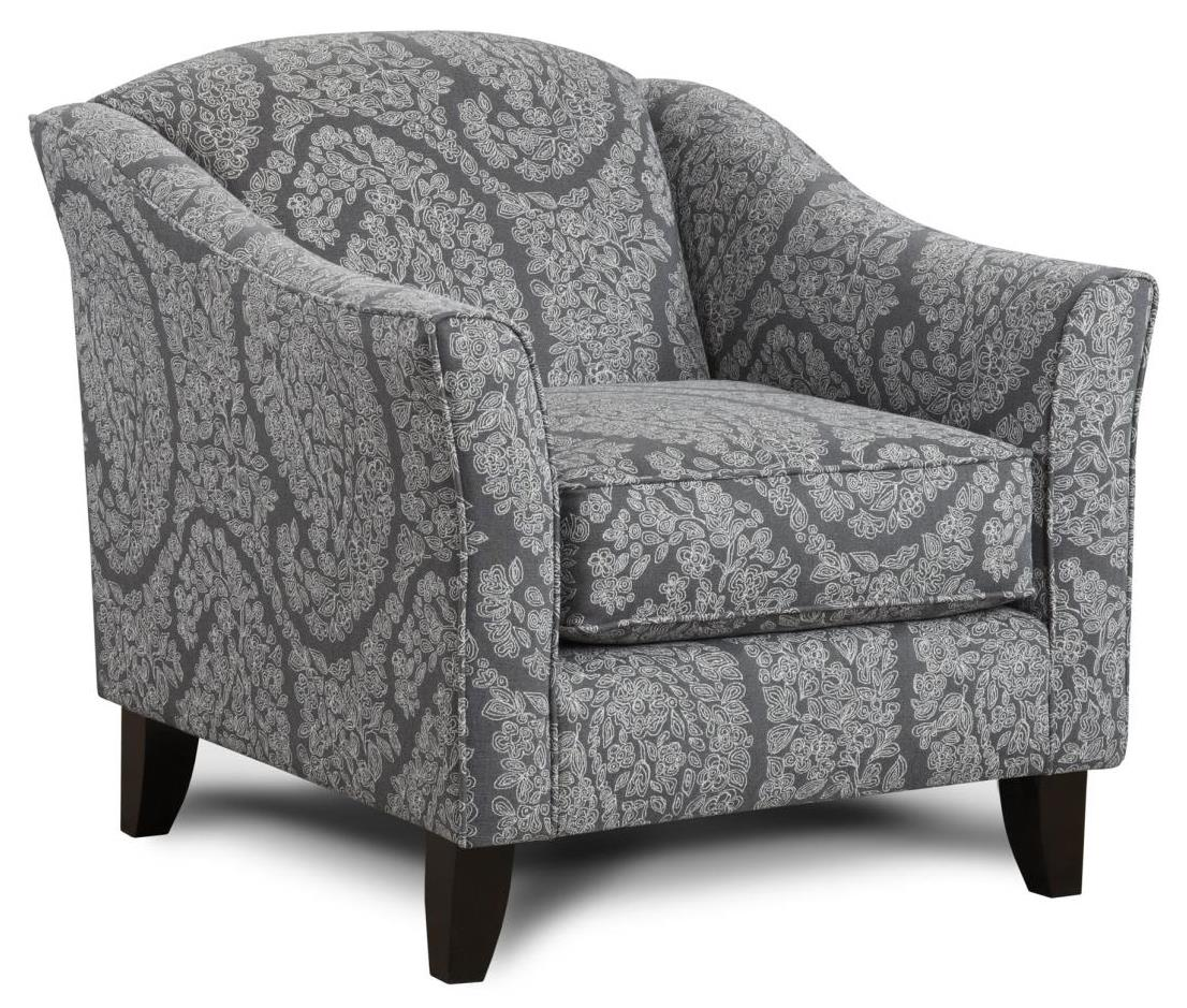 Fusion Furniture 452 Chair - Item Number: 452Ella Pewter