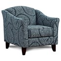Fusion Furniture 452 Chair - Item Number: 452Evans Indigo