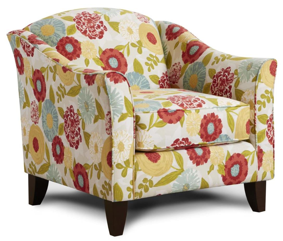 Fusion Furniture 452 Chair - Item Number: 452Luna Flora Poppy