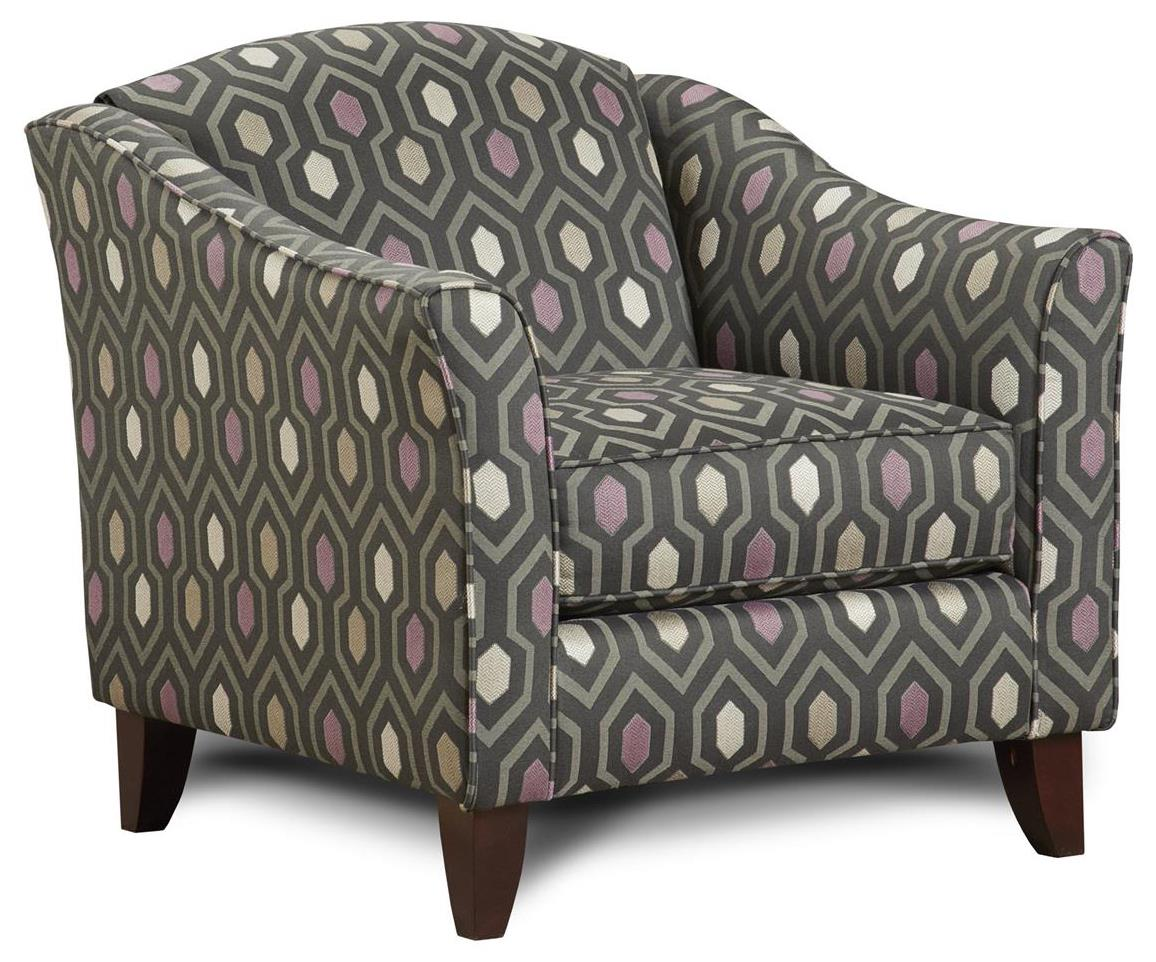 Fusion Furniture 452 Chair - Item Number: 452Rush Hour Slate
