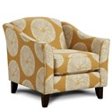 Fusion Furniture 452 Chair - Item Number: 452Shibori Sol Amber