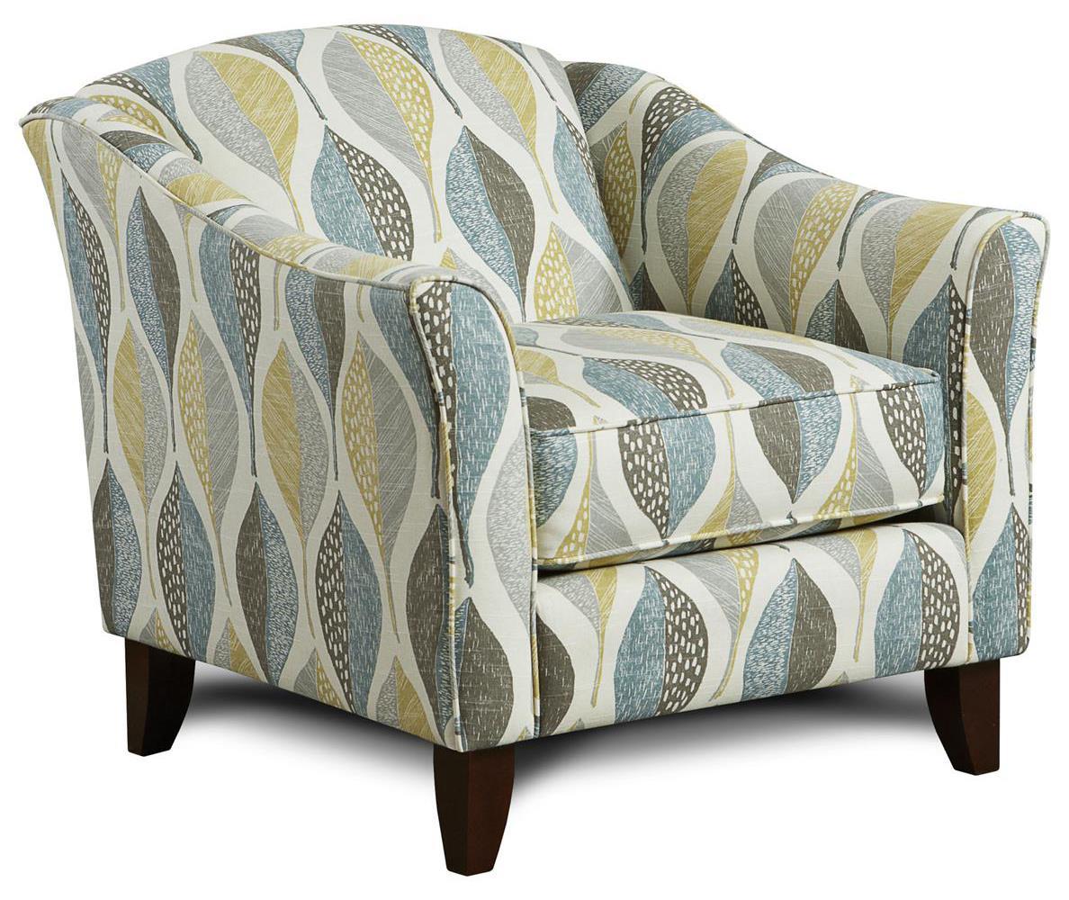 Fusion Furniture 452 Chair - Item Number: 452Woodblock Leaf Rain