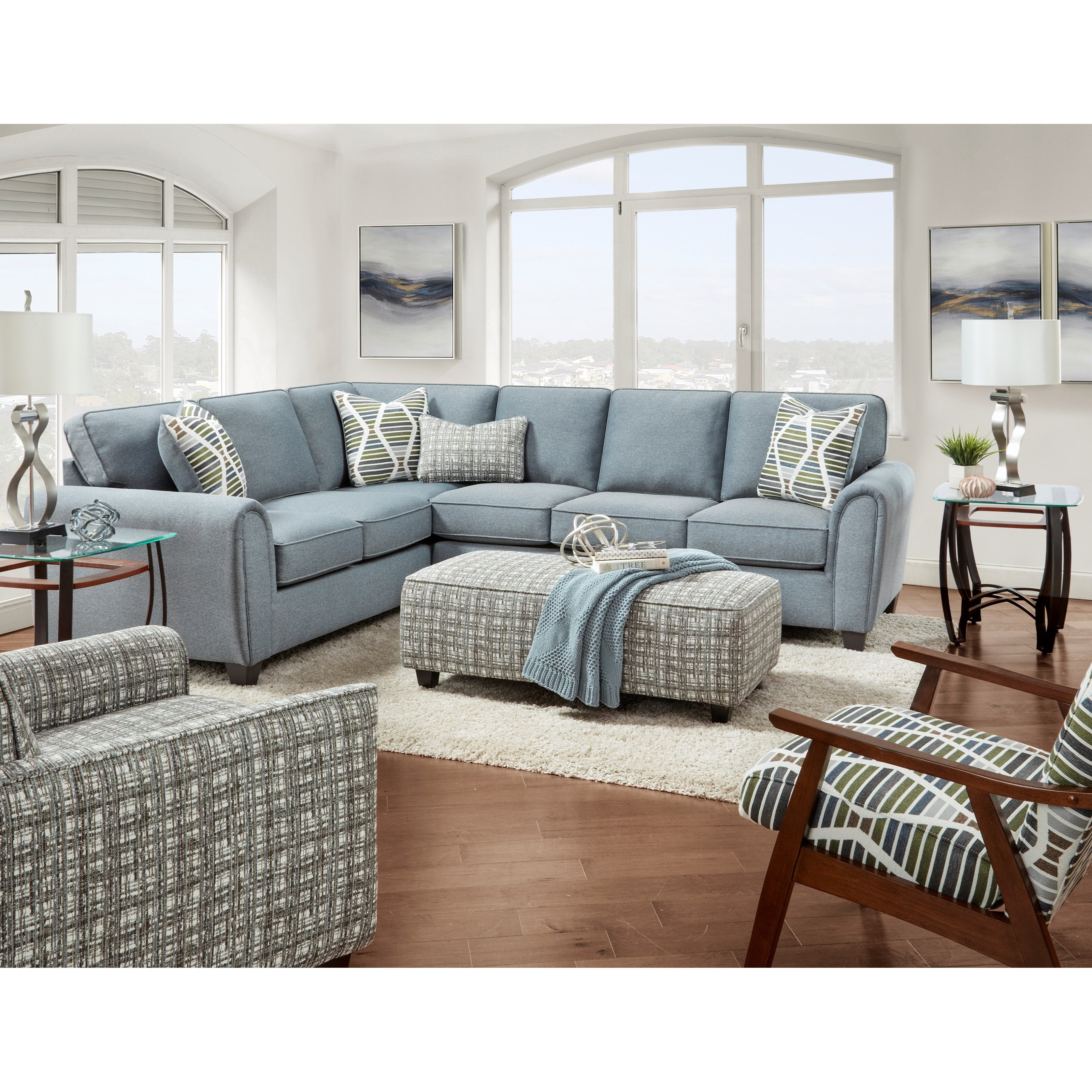 49-00 Living Room Group by Fusion Furniture at Hudson's Furniture